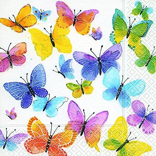 Servilletas (2 Juegos / 40 uds) 3 capas 33x33 cm Muestra Verano Mariposas (Flying Colours) Unbekannt