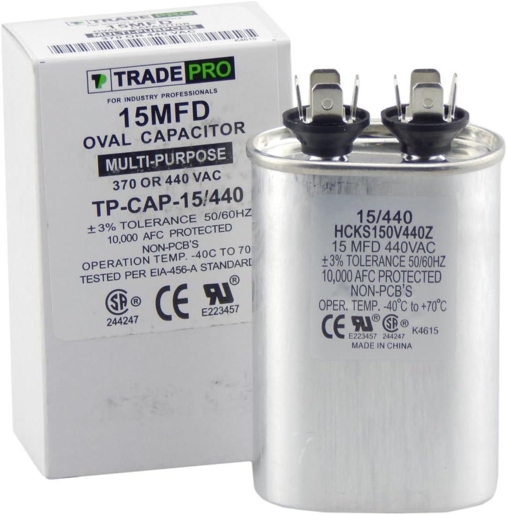 TRADE PRO TP-CAP-5//440USA 5 MFD Capacitor 440//370 VAC Dual Voltage