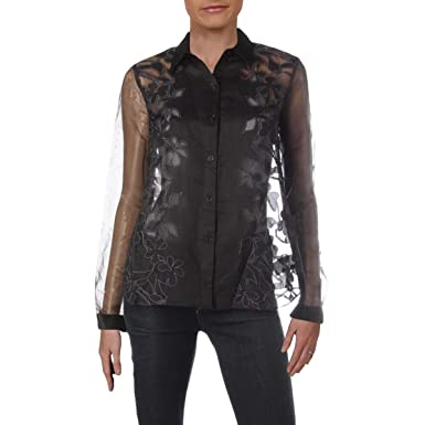 538a023734d Image Unavailable. Image not available for. Color: Sachin + Babi Womens Embroidered  Floral Print Blouse ...