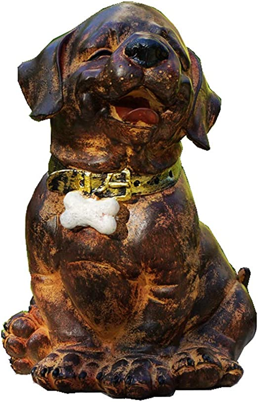 Hand Made Bronze Dog Boxer Pups Terrier Animal Ornament Vintage Statue Sculpture