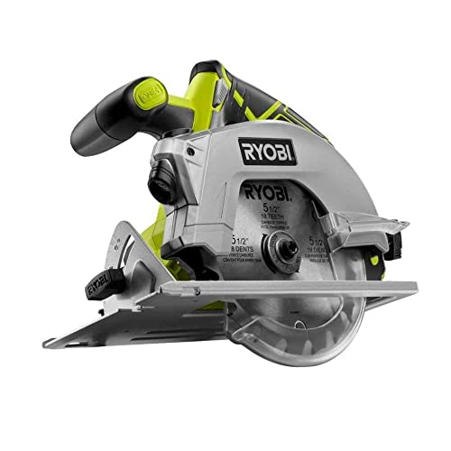 Ryobi ZRP506 ONE 18-Volt Lithium-Ion 5-1 2 in. Cordless Circular Saw with Laser Tool Only Renewed