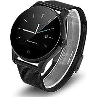 Swiftswan Smart Watch Tracker Bluetooth Montre-Bracelet Moniteur de Fréquence Cardiaque Sport Podomètre Numérotation Smartwatch Téléphone Fit pour Android iOS K88H