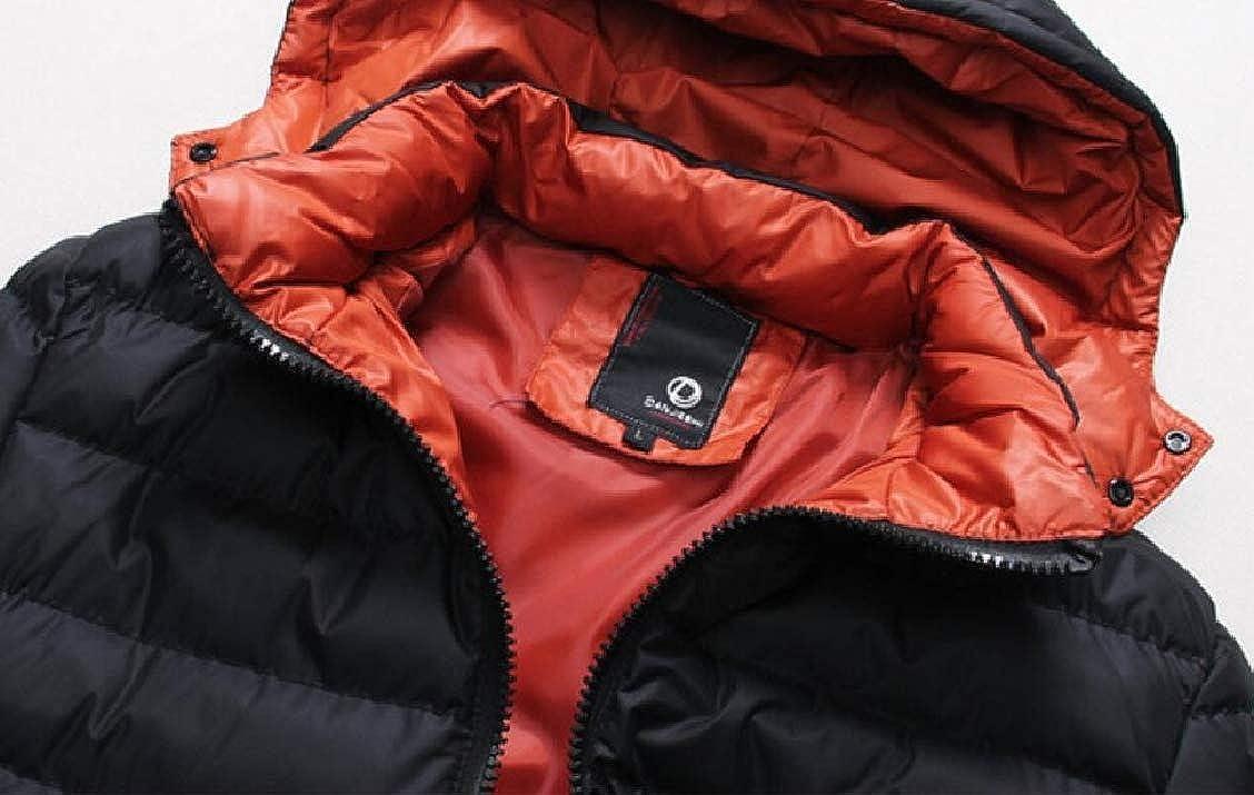 XQS Mens Thick Cotton Padded Coat Hoodie Coats Coat