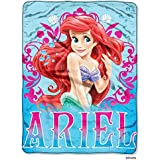"Disney Princess Mermaid Ariel ""Coral Reef"" Micro Raschel Throw - 46""x60"""