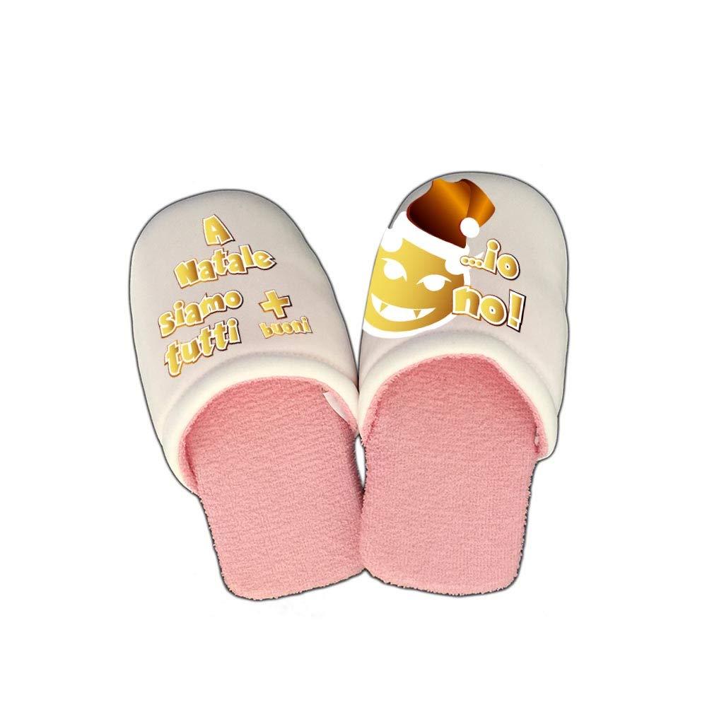 Altra Marca Pantofole Natalizie Personalizzate A Natale Siamo Tutti più buoni Ciabatte per Uomo e Donna