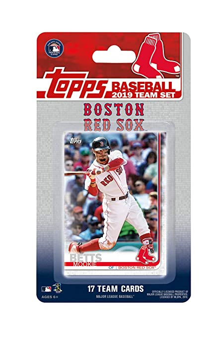9d5a2308d97 Amazon.com  Boston Red Sox 2019 Topps Factory Sealed Limited Edition 17  Card Team Set with Dustin Pedroia and Mookie Betts Plus  Sports   Outdoors