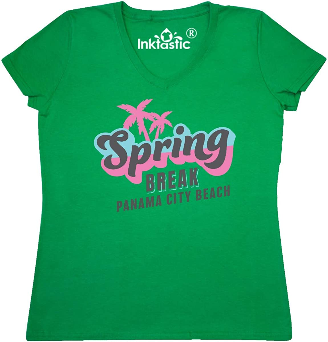 inktastic Spring Break Retro with Palm Trees Panama City Beach Baby T-Shirt