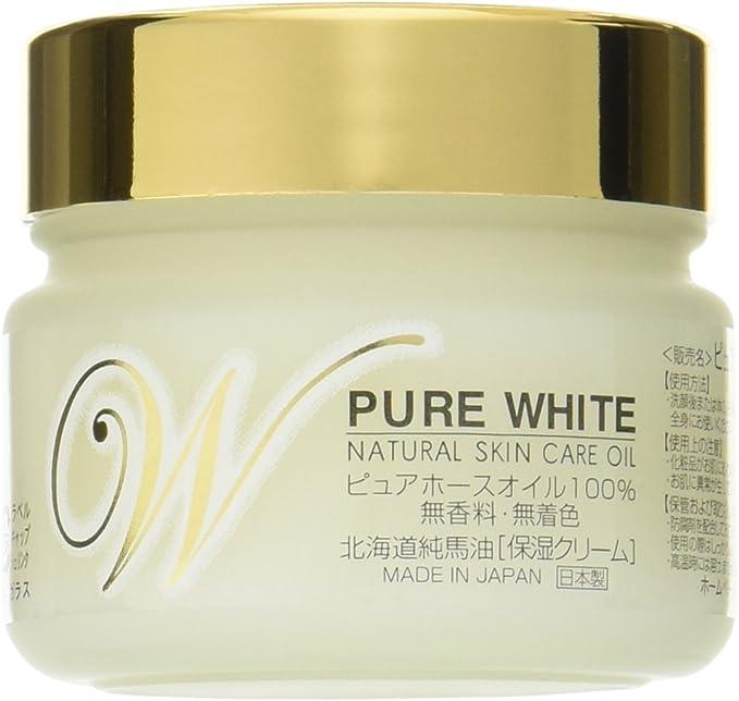 北海道純馬油本舗 ピュアホワイト ピュアホースオイル100% 保湿クリーム