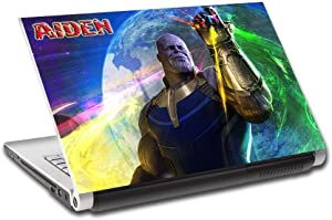 """Thanos Avengers Infinity War Personalized LAPTOP Skin Cover Decal Sticker L769, 13"""""""