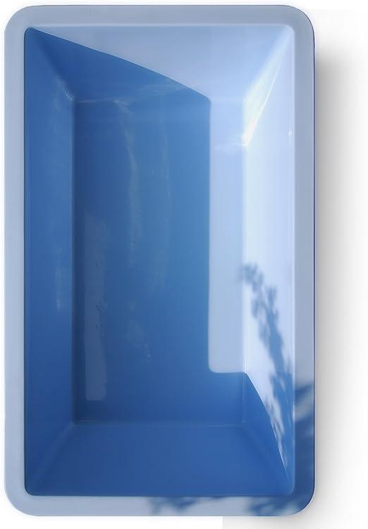 Estanque de jardín de M+W Gartenflair, rectangular, 7000 litros, 386 x 236 x 100 cm, azul: Amazon.es: Jardín