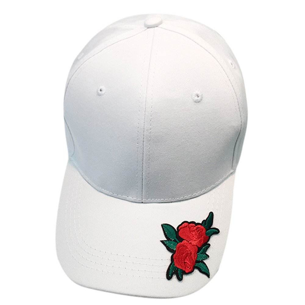 EOWEO Caps Hat,2019 anniversary celebration Women Men Couple Rose Baseball Cap Unisex Snapback Hip Hop Flat Hat