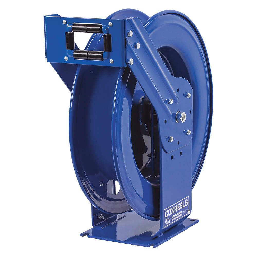 Coxreels TMPL-N-3100 Supreme Duty Spring Rewind Hose Reel for air/water/oil: 3/8'' I.D., 100' hose capacity, less hose, 3000 PSI