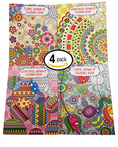 Vision St Publishing LLC Bundle Of 4 Grown Up Coloring Books 2 Floral