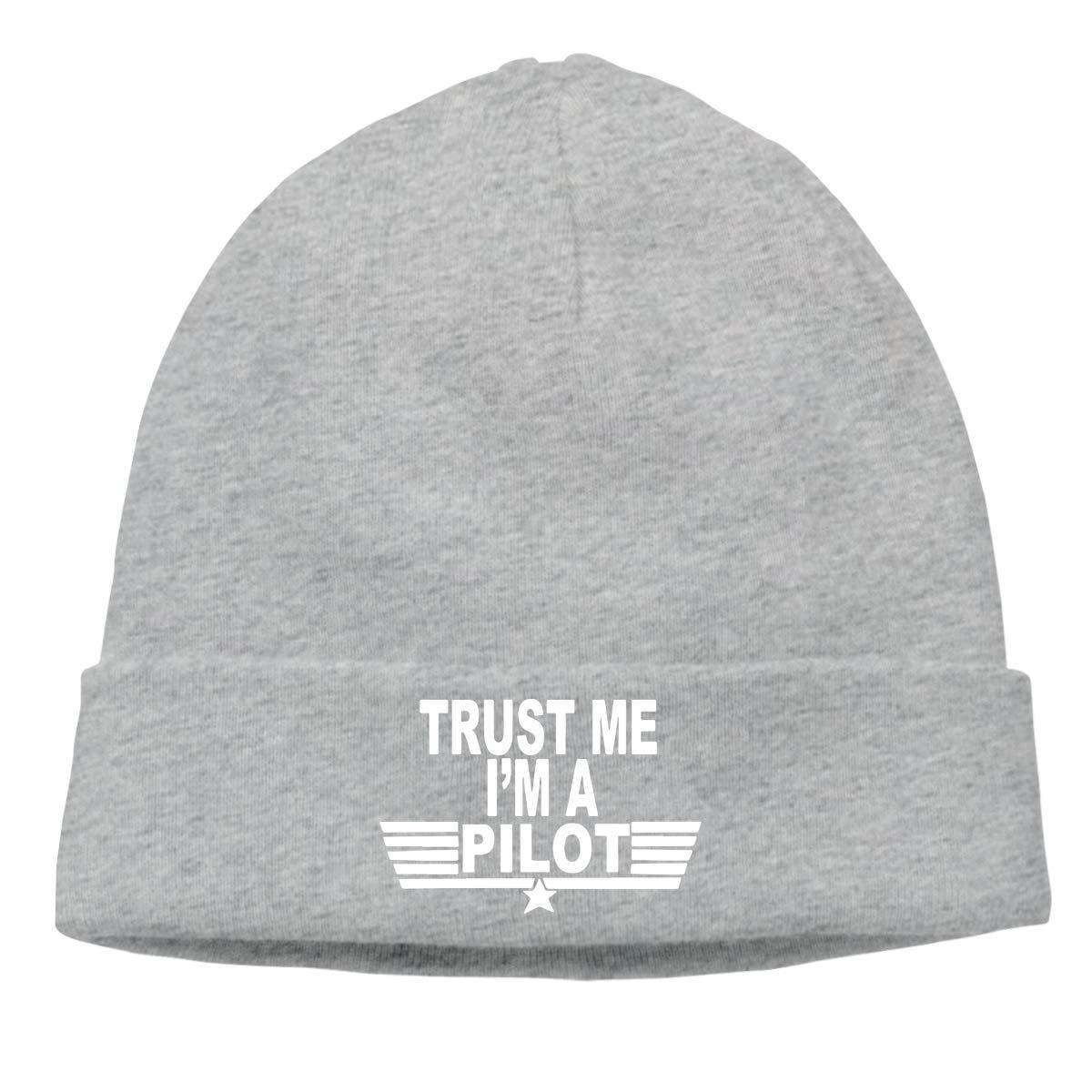 Trust Me Im A Pilot Unisex Cuffed Stretchy /& Soft Beanie Skull Cap