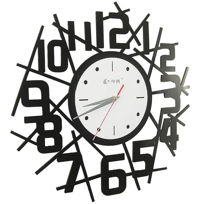 wert- Reloj de pared creativa acrílico reloj digital (sin fuente) regalo de regalo de día de Navidad: Amazon.es: Hogar