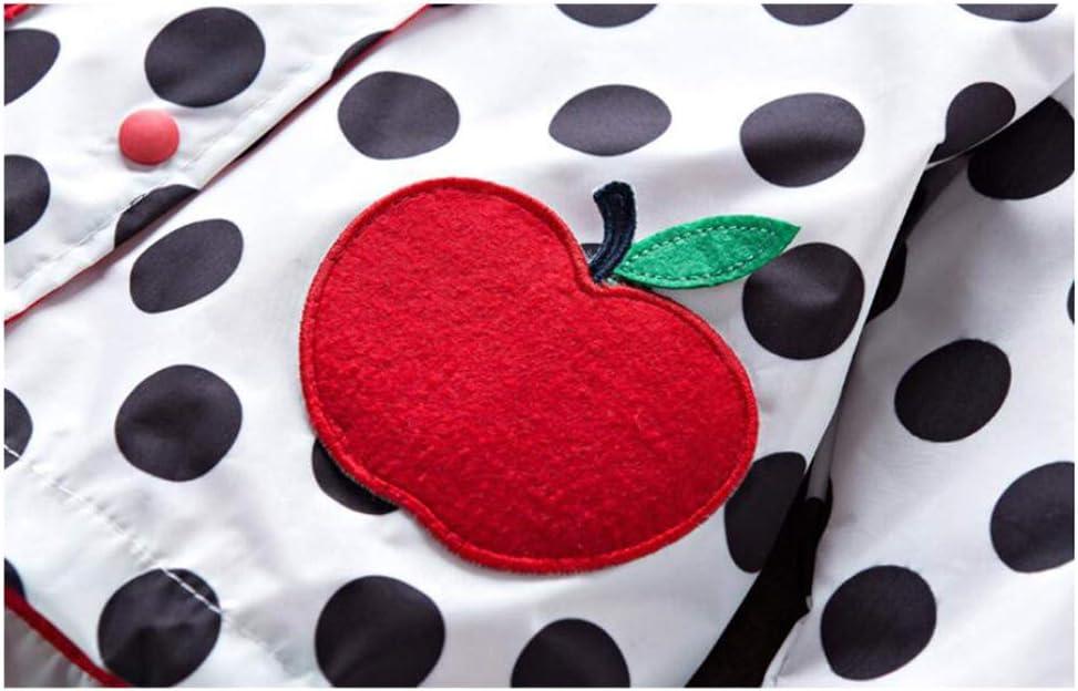 Escarabajo rojo, rana verde) Chaqueta Impermeable Ni/ñas en Primavera y Oto/ño Animales de Impresi/ón Chaqueta con Capucha 2-6 A/ños