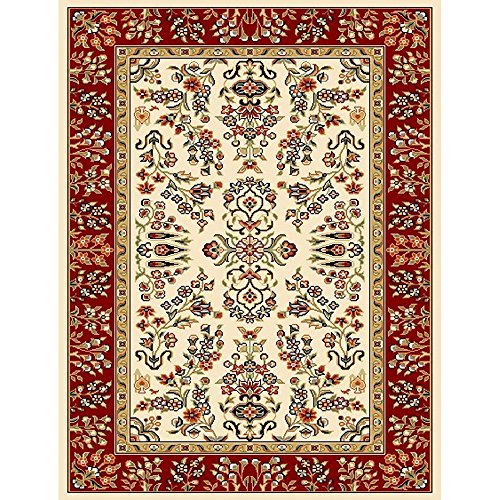 Safavieh Lyndhurst Collection LNH331A Traditional Oriental Ivory and Red Area Rug (4' x 6') - Area Accent
