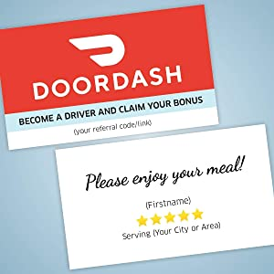 Doordash 5 Stars Business Cards – Support Products Made for Rideshare and Delivery Drivers … (500)
