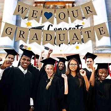 Congrats Doctoral Cap Felt Sign Graduation Banner Celebration Party Photo Prop