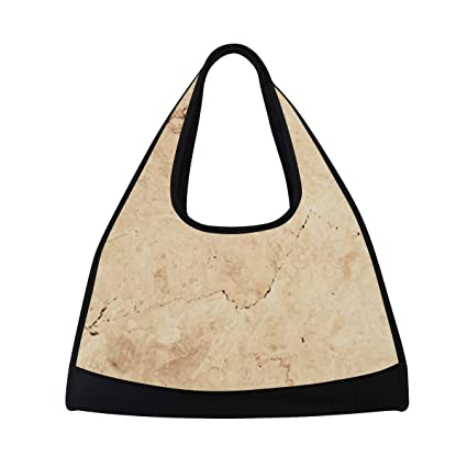 Brown Marble Sports Bag