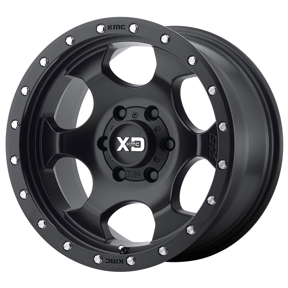 XD Series by KMC Wheels XD131 RG1 Satin Black Wheel (17x9/8x165.1, -12mm Offset)