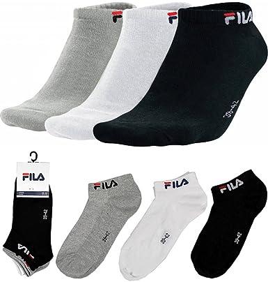 FILA Unisex NO SHOW & CREW 3er 6er 9er Sneaker Socken Füßlinge,  Sportsocken, Tennissocken