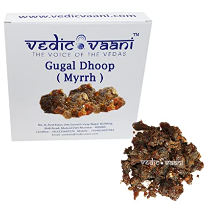 Vedic Vaani Myrrh Gugal Dhoop, 250g(Brown)