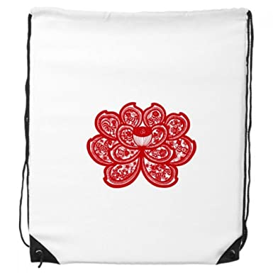 Amazon Lotus Chinese Zodiac Paper Cut Flower Animal Drawstring