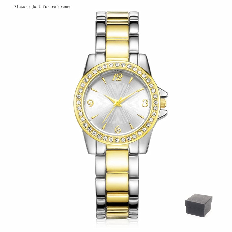Amazon.com: DWG Woman Watch, Bracelet Wrist Watch, Casual Gold Rhinestone Elegant Round Quartz Ladies Dress Watches (Two tone gold and silver): Jewelry