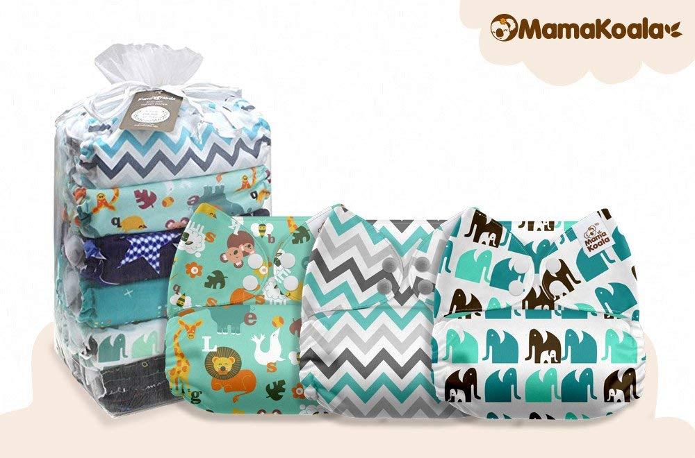 Jagger One Size 6 Inserts 6 pcs Mama Koala Pocket Cloth Diapers