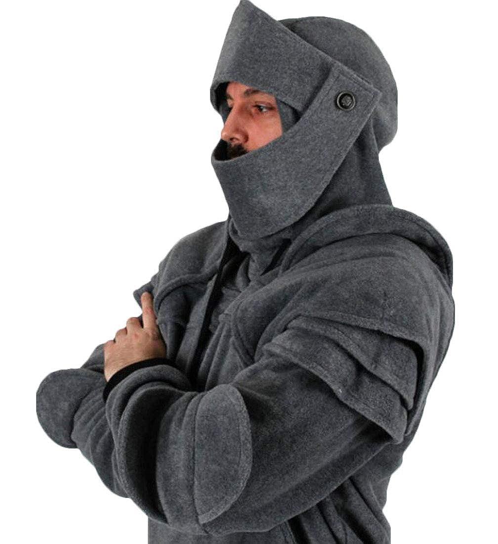 Hurrg Mens Gothic Vintage Drawstring Pockets Hoodie Pullover Sweatshirt