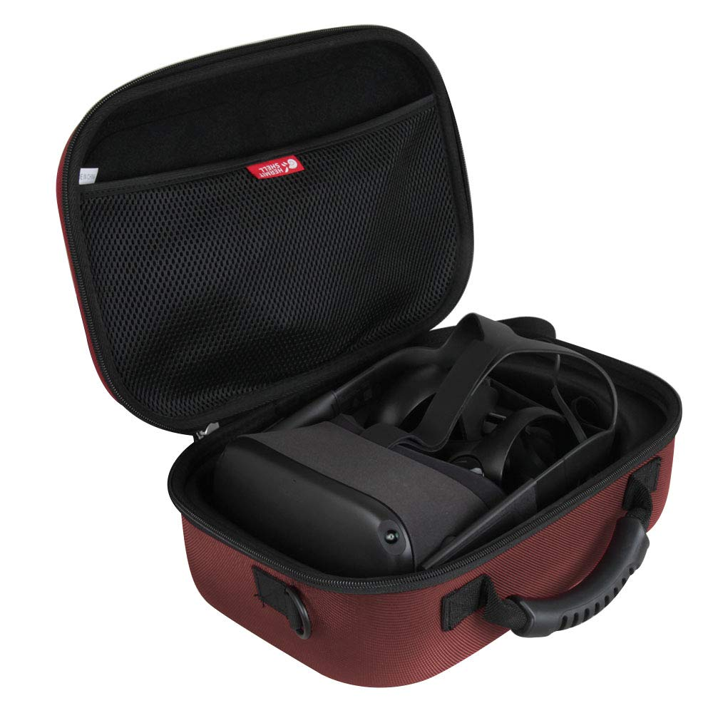 Hermitshell Hard EVA Travel Case for Oculus Quest All-in-one VR Gaming Headset 64GB and 128GB (Red) by Hermitshell