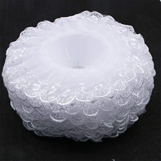 Bouquet Handle Holder White Lace Collar for Bridal Floral Wedding Flower MW