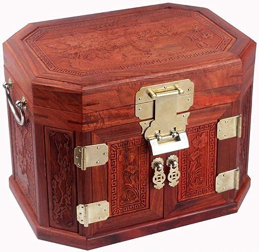 DANDAN-Cajas para joyas Joyero, Caja de Vestir clásica Retro China ...