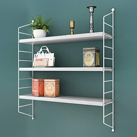 3-layer Shelves Wall Mounted Shelf Bracket Storage Rack Bookshelf-White