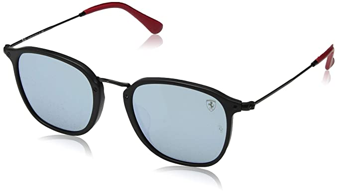 a1169cfed7 Image Unavailable. Image not available for. Color  Ray-Ban Men s Acetate  Man Sunglass Iridium Round ...