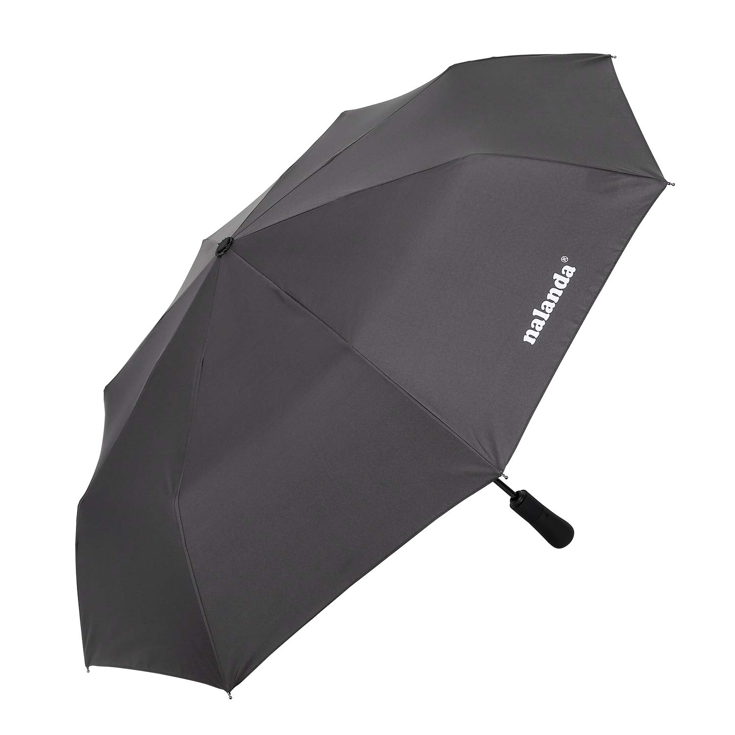Nalanda Automatic Folding Travel & Business Umbrella Auto Open and Close with Windproof Frame, High Density Anti-microbial Material(Space Grey)
