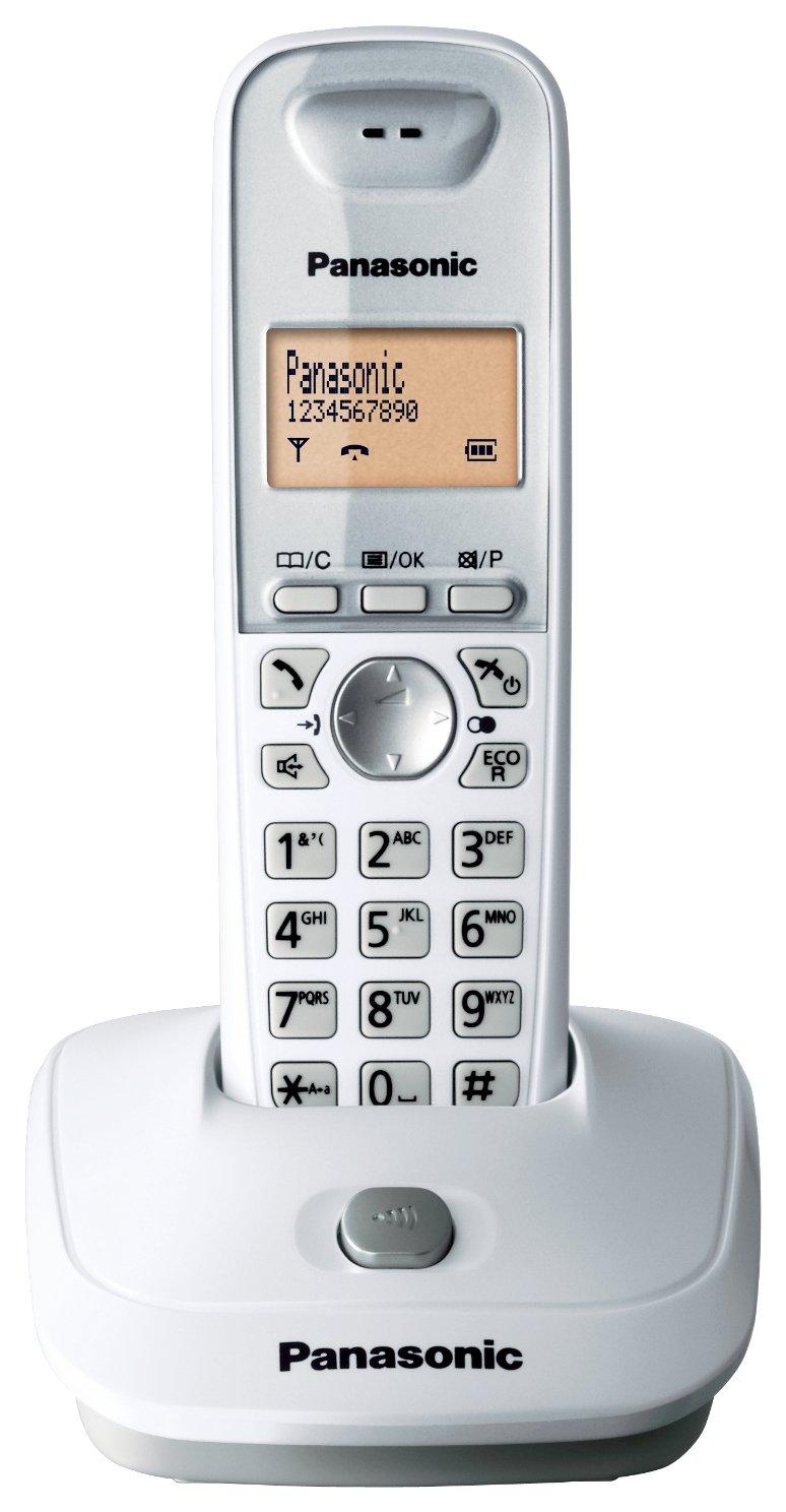 Panasonic KX-TG2511SPW - Teléfono fijo digital inalámbrico (identificador de llamadas, pantalla LCD), blanco: Panasonic: Amazon.es: Electrónica