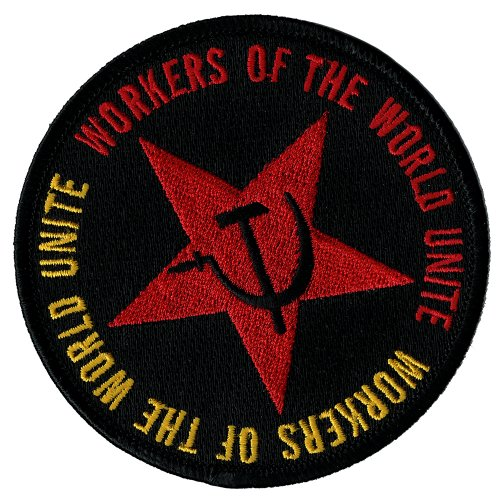 Workers of the World Unite Iron-On Patch Embroidered Communist Party CCCP USSR