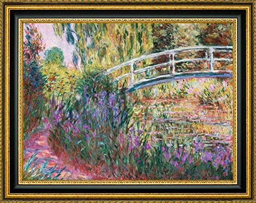 (The Japanese Bridge Pond with Water Lillies by Claude Monet - 16.25