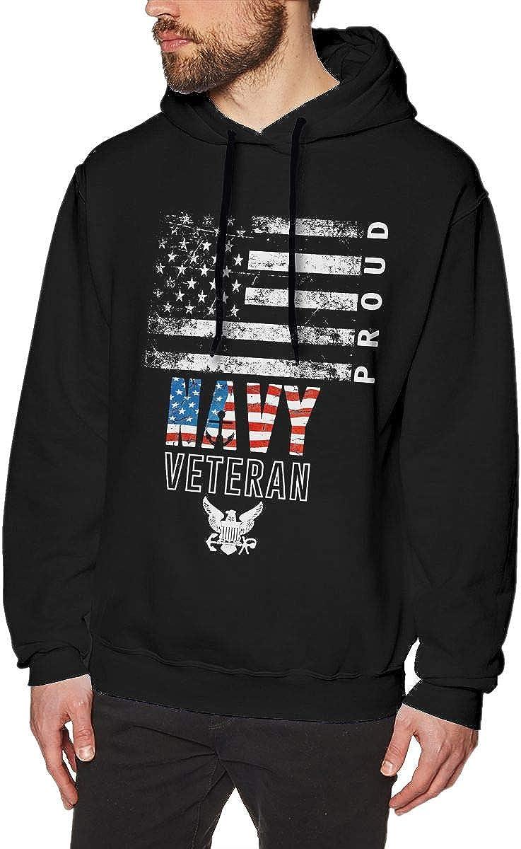 MUSICOT US Navy Veteran Mens Pullover Hooded Sweatshirt Cozy Sport Outwear