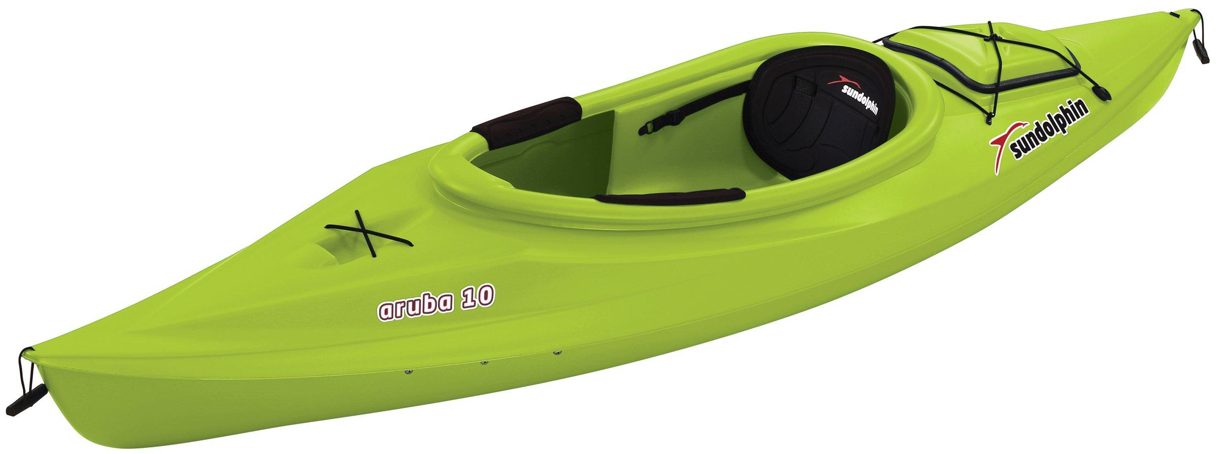 SUNDOLPHIN Aruba Sit-in Kayak (Citrus, 10-Feet) by SUNDOLPHIN