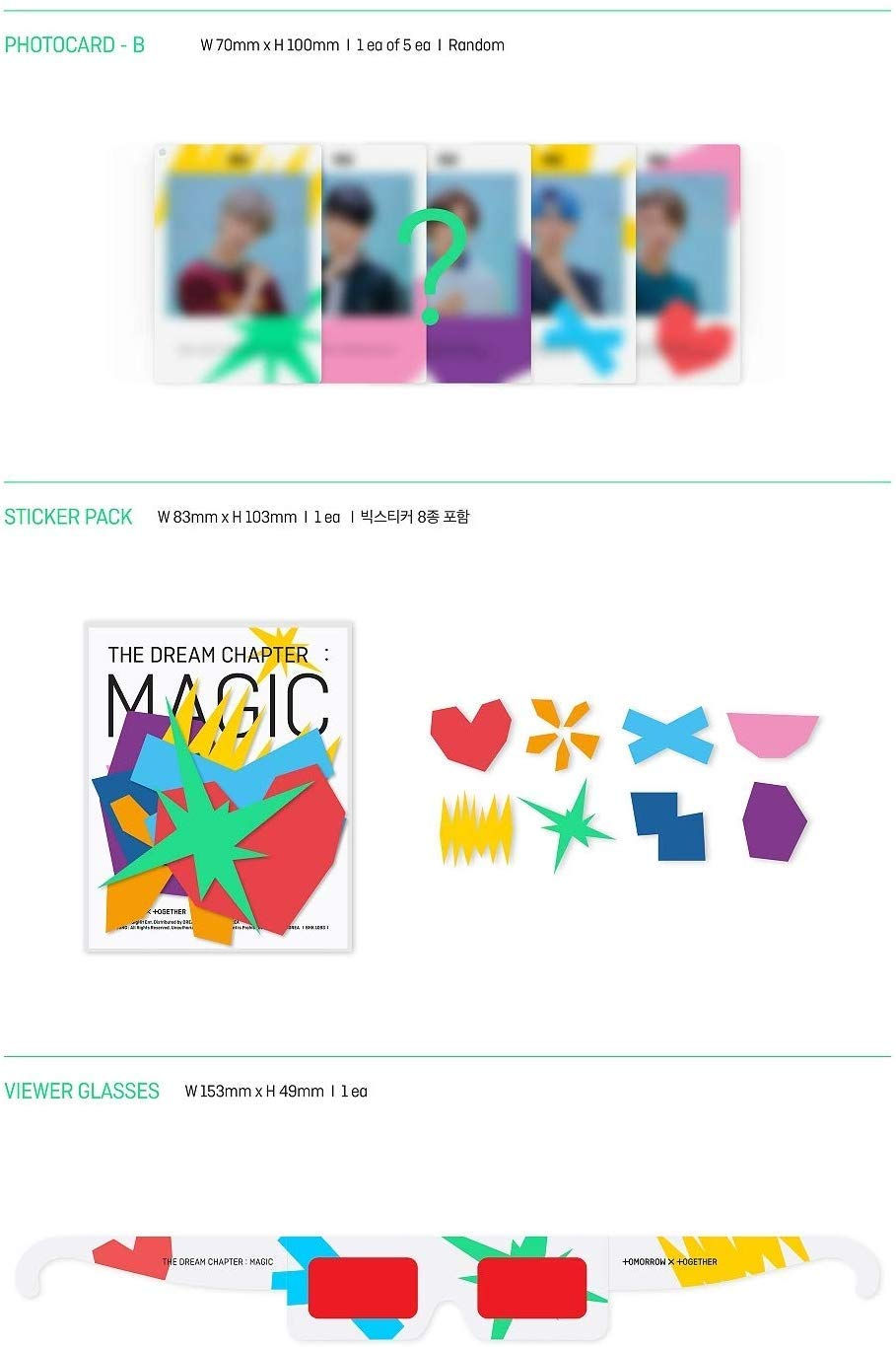 BigHit TXT-Tomorrow X Together - The Dream Chapter : Magic [Sancturary Ver.] Album CD+Folded Poster+Gift (Photocard & Photo Printed Acrylic Key Ring) by BigHit
