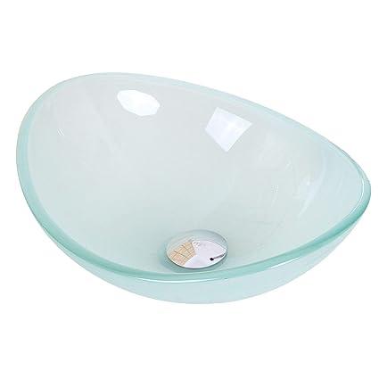 Mini Vessel Bathroom Sinks.Mini Tempered Glass Boat Shaped Oval Bowl Bottom Vessel Bathroom