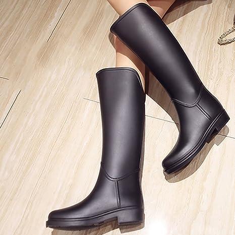 6d9aabec2d163 Amazon.com: ZXCVBNM Fashion Riding Boots Rain Boots Spring Summer ...