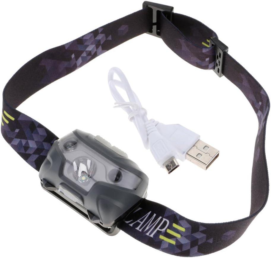 HuntGold bater/ía 4000lm 3/modos impermeable inducci/ón faros linterna frontal linterna con cargador USB para Camping senderismo pesca caza Riding