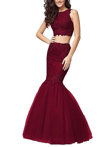Amazon.com: Aurora novia mujeres 2 piezas Sirena vestidos de ...
