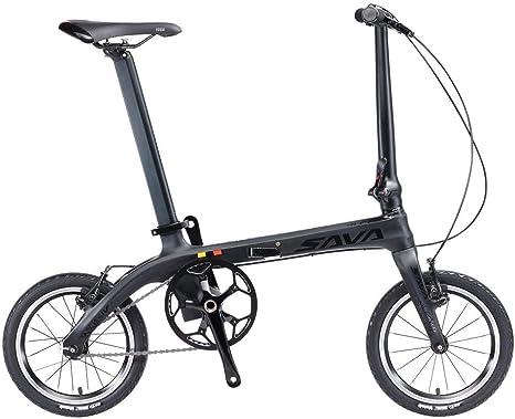 SAVANE Bicicleta Plegable de Carbono, Z0 Bicicleta Plegable de 14 ...
