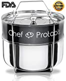 Chef Protools Stackable Steamer Insert Pans for Instant Pot Accessories 6Qt - HEAVY DUTY Pot in Pot Food Steamer for Pressure Cooker
