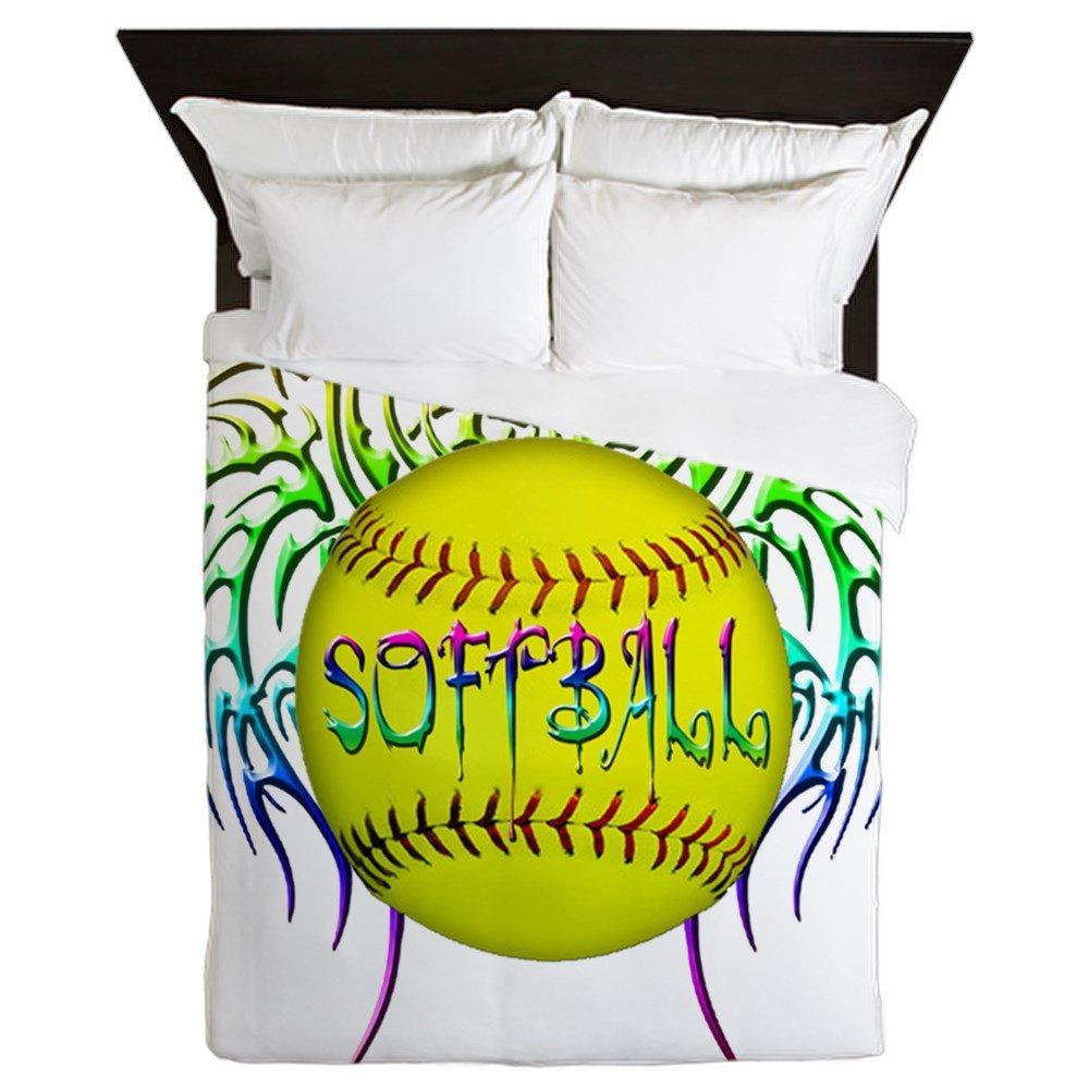 CafePress Buffy Softball Queen Duvet Cover, Printed Comforter Cover, Unique Bedding, Microfiber